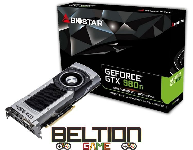 Biostar Gaming GeForce GTX 980Ti — новый графический ускоритель