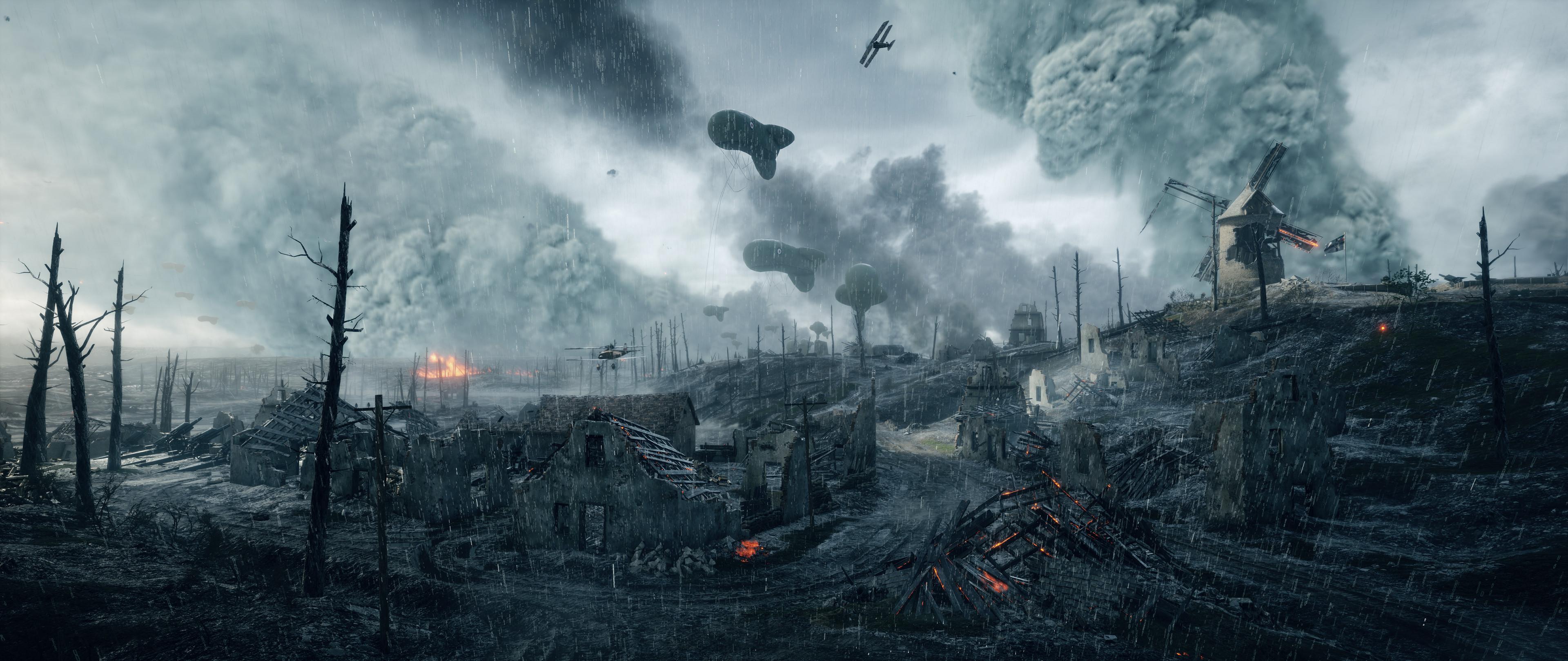 Разрушаемость в Battlefield 1 показали на видео