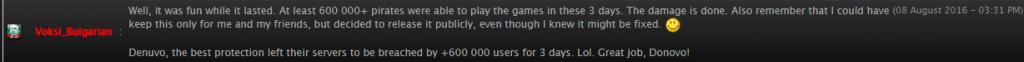 Взломом Denuvo воспользовались 600 тыс. игроков