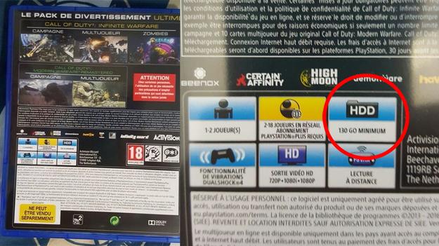 Размеры Call of Duty Infinite Warfare просто гигантские