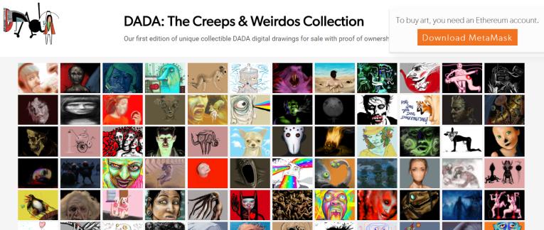 DADA - первая цифровая арт-платформа на основе Blockchain