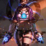 Фанат Overwatch создал концепцию скина Трейсер в стиле K/DA из League of Legends