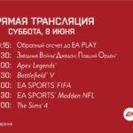 Смотрим прямые трансляции Electronic Arts с открытия EA Play 2019 (Сегодня в 19:30 по Москве)