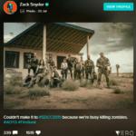 Зак Снайдер не приехал на SDCC, но выложил фото со съемок «Армии мертвых»