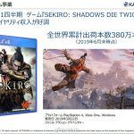 Поставки Sekiro: Shadows Die Twice превысили 3.8 миллиона копий
