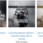 Call of Duty: Modern Warfare — Версия для PS4 все же не выйдет в России