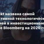 CD Projekt названа самой перспективной технологической компанией в инвестиционном рейтинге Bloomberg на 2020 год