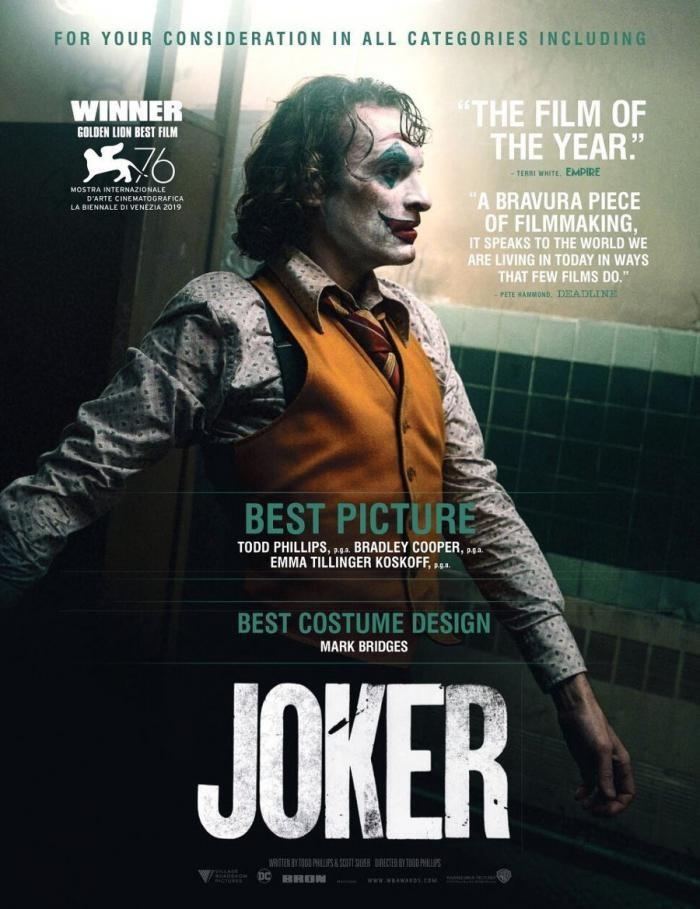 «Джокера» выдвинули на «Оскар» в 16 номинациях, но в России у него «не было бы никаких шансов на поддержку»