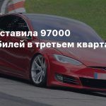 Tesla поставила 97000 автомобилей в третьем квартале