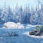 Заснеженная Аляска на скриншотах из SnowRunner