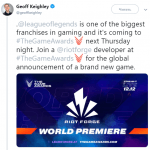 League of Legends — Студия Riot Games открыла издательскую компанию