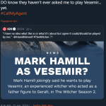 «Позвоните моему агенту»: Марк Хэмилл согласен на роль Весемира в The Witcher