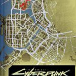 Путь Ви из демо Cyberpunk 2077 наложили на карту города