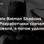 The Telltale Batman Shadows Edition — Разработчики сначала опубликовали, а потом удалили анонс