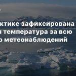 В Антарктике зафиксирована самая высокая температура за всю историю метеонаблюдений