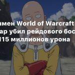 Ванпанчмен World of Warcraft за один удар убил рейдового босса, нанеся 115 миллионов урона
