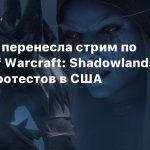 Blizzard перенесла стрим по World of Warcraft: Shadowlands из-за протестов в США