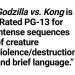 «Годзилла против Конга» получил рейтинг PG-13