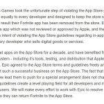 Apple удалила Fortnite из App Store из-за нового способа покупки виртуальной валюты