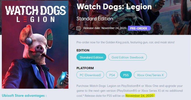 Утечка: Watch Dogs Legion выйдет на PS5 24 ноября