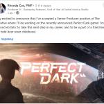 «Дорожу этой франшизой с детства»: Еще один разработчик God of War присоединился к команде перезапуска Perfect Dark для Xbox Series X S