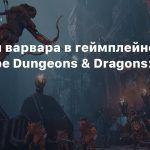 Приемы варвара в геймплейном трейлере Dungeons & Dragons: Dark Alliance