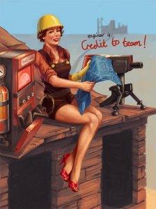 Девочки в стиле Team Fortress 2
