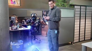Видео: Айзек из Dead Space и его локатор в офисе