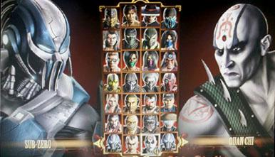 Скриншот со всеми бойцами из Mortal Kombat