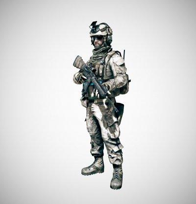Арты, изображающие классы бойцов Battlefield 3 в HD-качестве