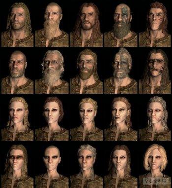 Однополые браки в The Elder Scrolls 5: Skyrim и изображения лиц по умолчанию