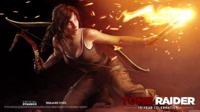 Арты, посвящённые 15-летию Tomb Raider