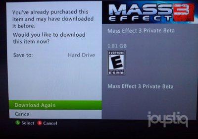 Утечка беты Mass Effect 3 в Xbox Live 3. Огромное количество записанных минут геймплея