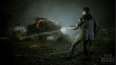 Тизер-изображение, сравнивающее графику Alan Wake на Xbox 360 и PC