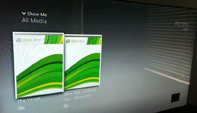 Фотографии бета-версии нового дашборда Xbox 360