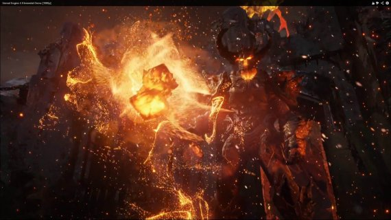 Сравним демонстрацию Unreal Engine 4 Elemental для PS4 и PC