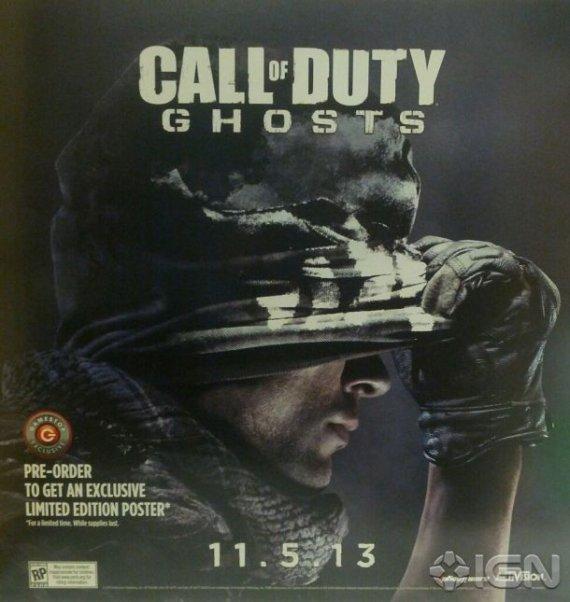 Постер, тизер и дата выхода Call of Duty: Ghosts