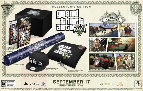 Состав специальных изданий GTA 5