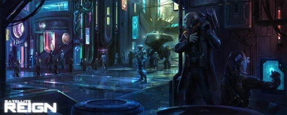Ждём анонс киберпанк игры Satellite Reign