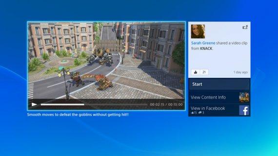 Скриншоты интерфейса PS4