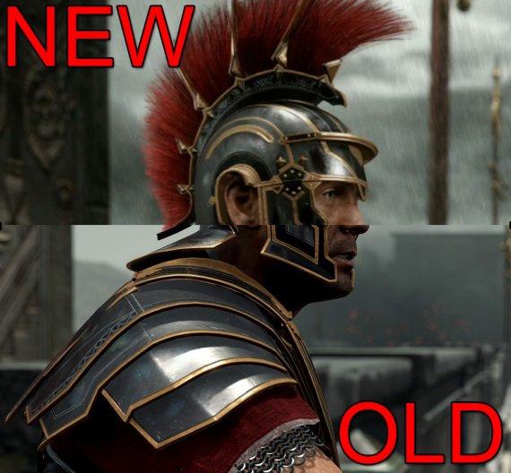 Наглядное сравнение ранней и новой версии билда Ryse: Son of Rome