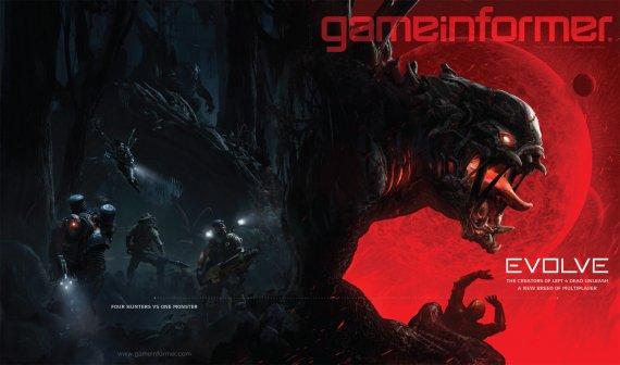 Экшен Evolve на обложке GameInformer