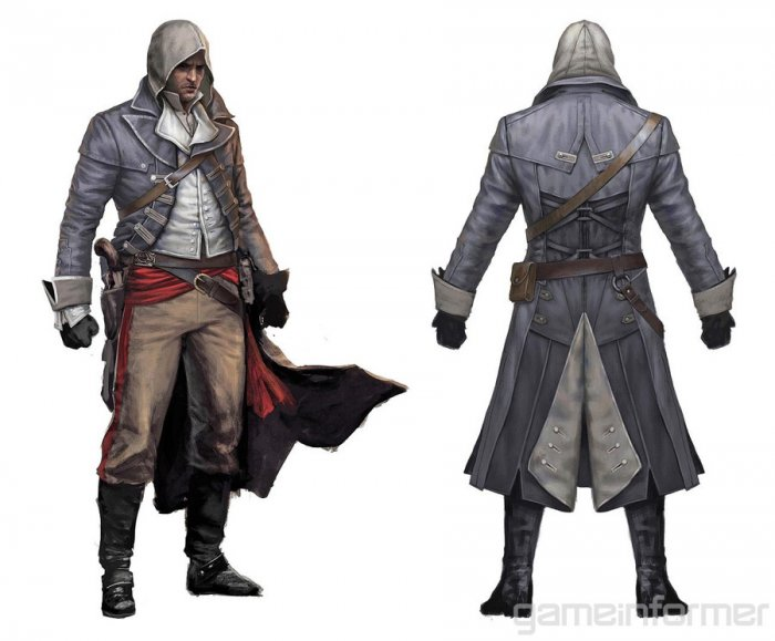 Арты проектов Assassin's Creed Unity и Assassin's Creed: Rogue